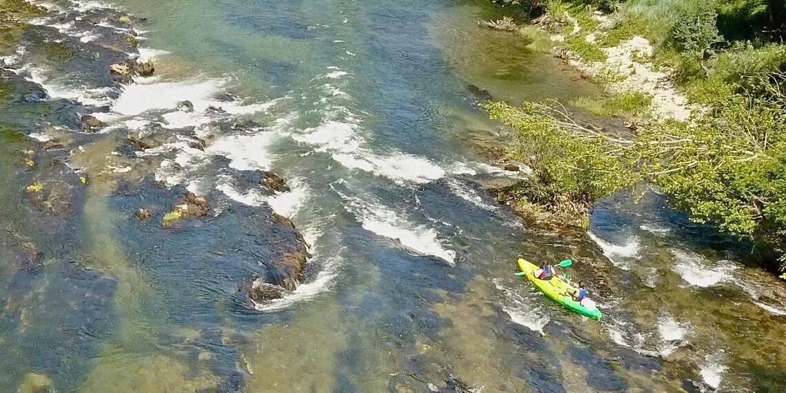 Exploration de la rivière Tarn dans ses recoins les plus secrets, rando et kayak, labellisé Out Of Reach