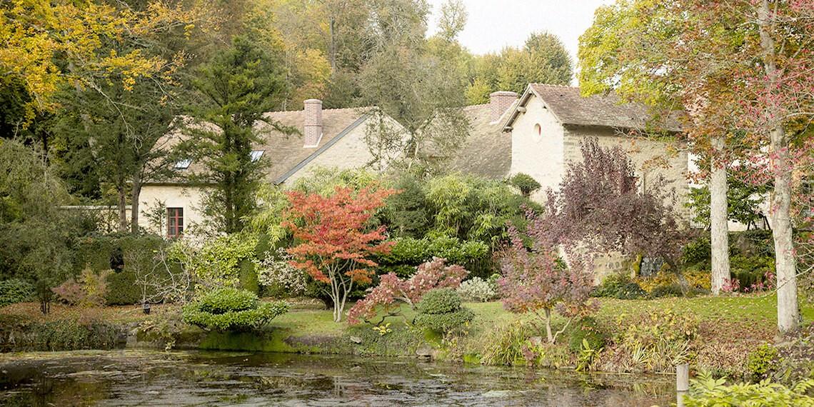 Jardin japonais domaine château Essonne