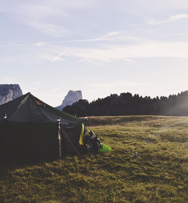 Campement déconnecté