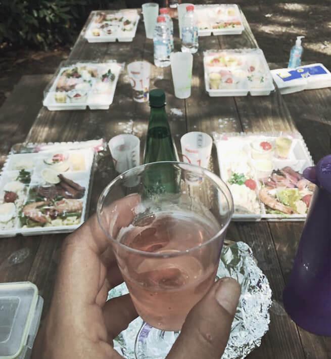 Déjeuner en extérieur, la déconnexion