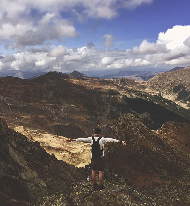Seul face aux montagne, déconnec