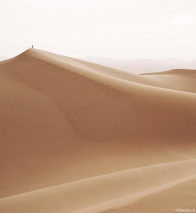 Dune de sable en mode déconnexion