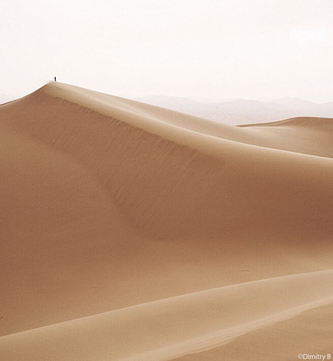 Dune de sable en mode déconnexio