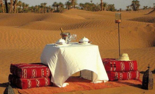 Repas dans le désert déconnecté