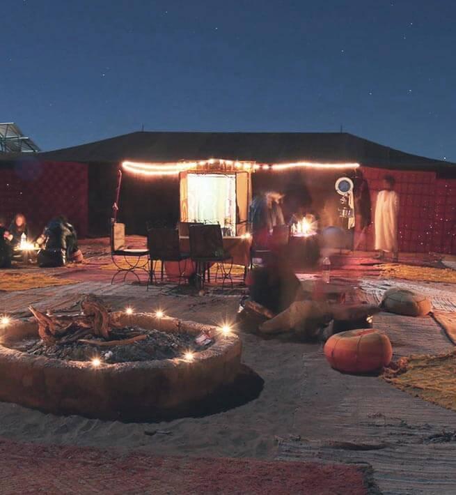 Campement dans le désert - digit