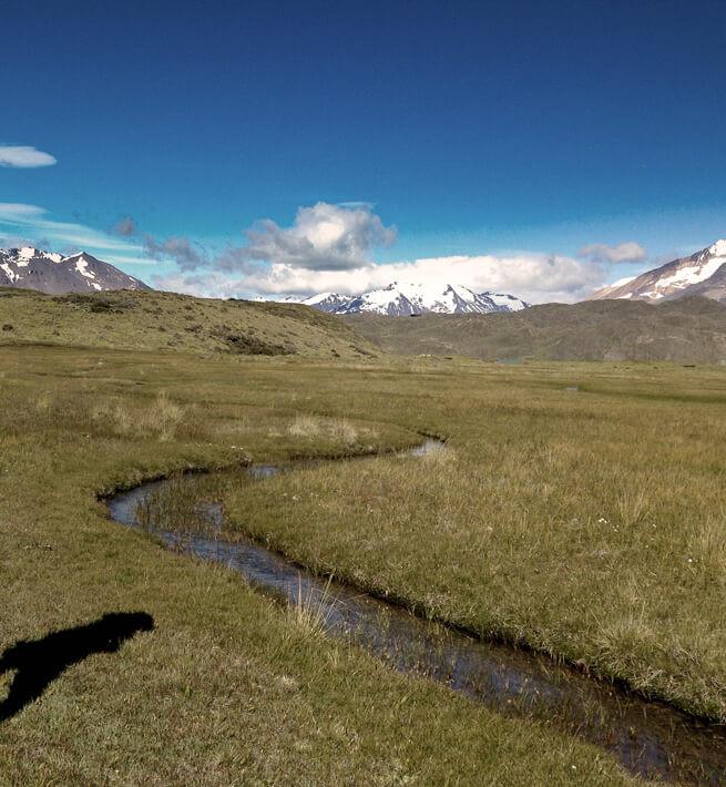 Paysage Patagonie digital detox