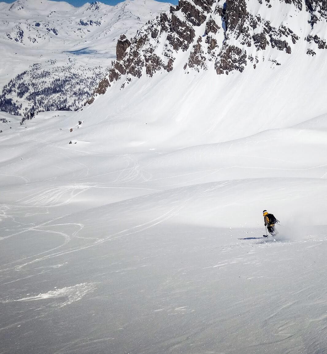 Descente en ski déconnectée
