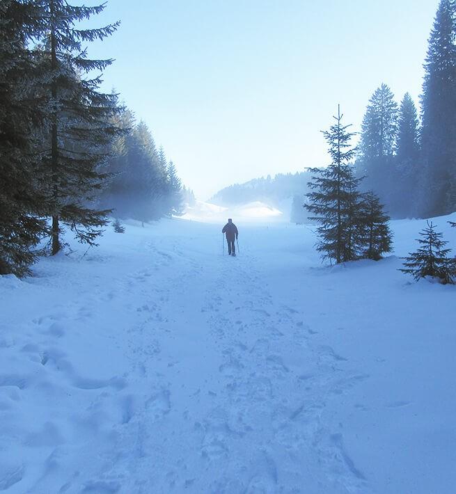 Seul dans la neige ça déconnecte
