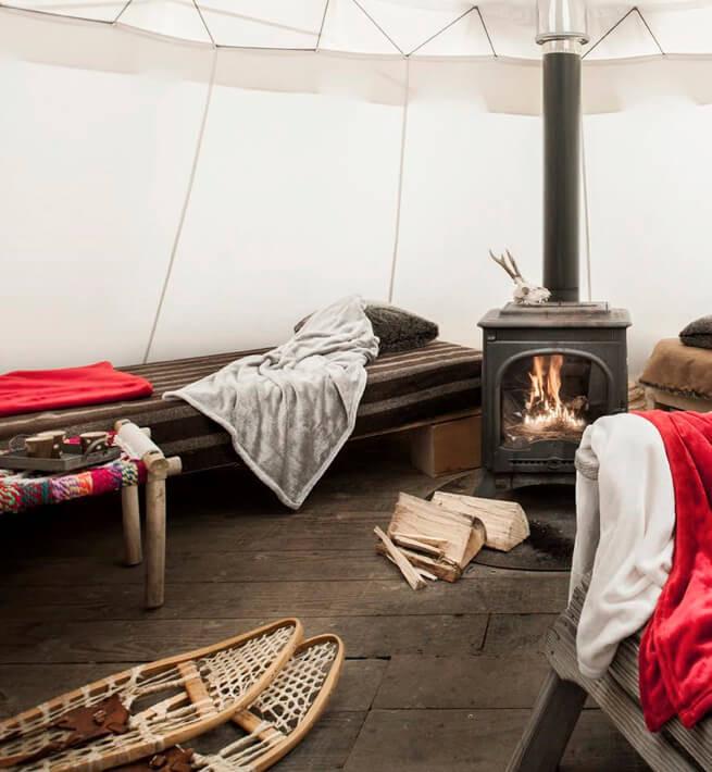 Camp de trappeurs en Savoie - 1