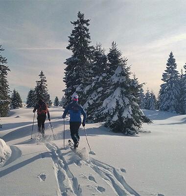 En duo au paradis du ski...