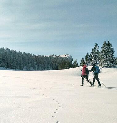 En ski de randonnée...