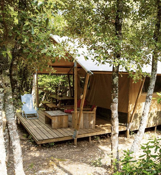 camping ardeche yourte nature