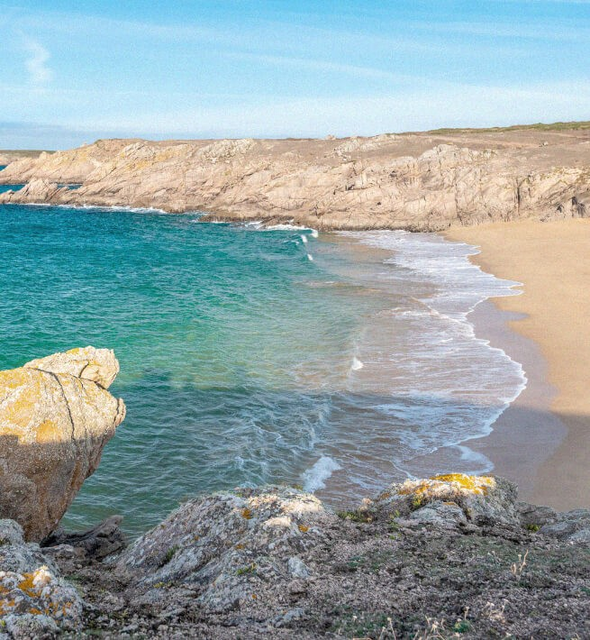 Plage île bretonne