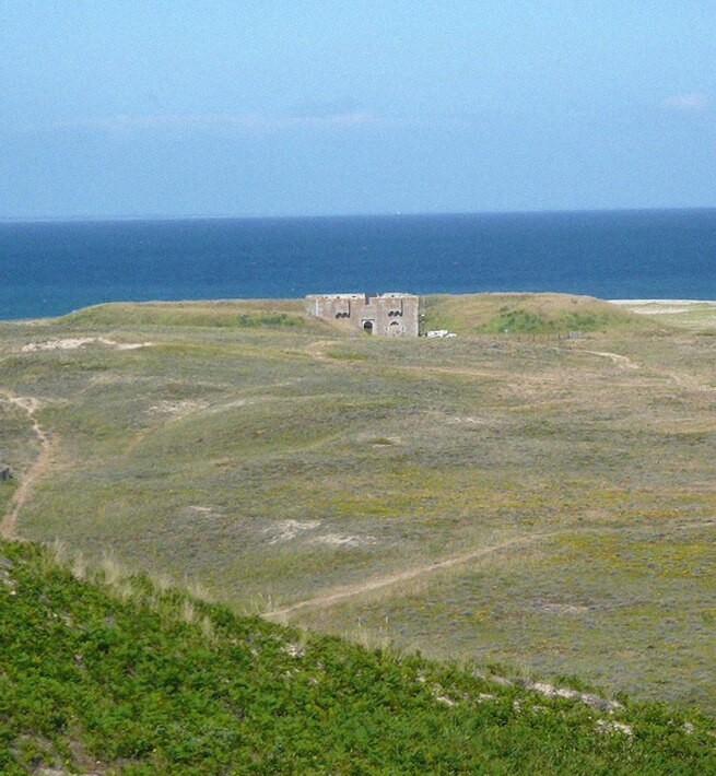 Vue fort île bretonne